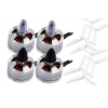 Combo 4 Motores brushless Tarot MT1806-2280kV (2CW y 2CCW)