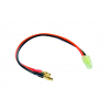 Cable de carga banana 4.0mm a conector Mini Tamiya